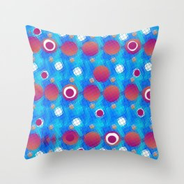 Bubble and circle Throw Pillow