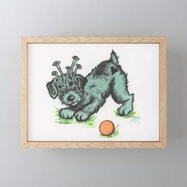 Alien Puppy Framed Mini Art Print