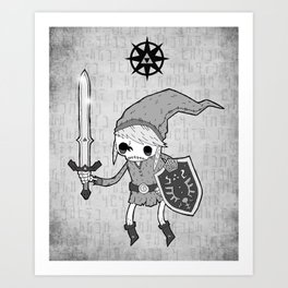 Undead Link Art Print