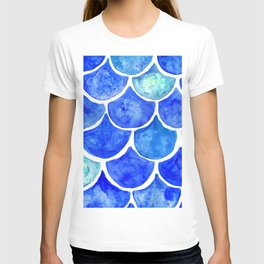 Mermaid Scales Blue & Turquoise T-shirt
