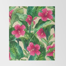 My Tropical Garden 25 Throw Blanket