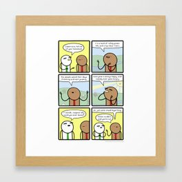 Antics #267 - country of origin Framed Art Print