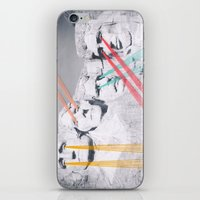 rushmore iPhone & iPod Skins featuring Embroidered Mt. Rushmore by Mana Morimoto