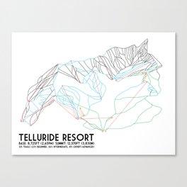 Telluride, CO - Minimalist Trail Maps Canvas Print