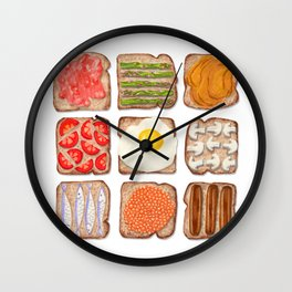 Breakfast Toast Wall Clock