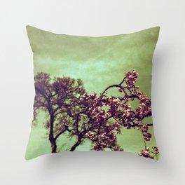 Redscale Blossom Throw Pillow