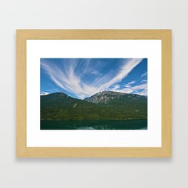 The Way to Valhalla - Lake Slocan, BC, Canada Framed Art Print