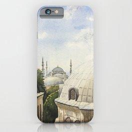 Blue mosque iPhone Case