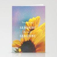 sunshine Stationery Cards featuring Sunshine by Olivia Joy StClaire