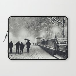 New York City Snow Bryant Park Laptop Sleeve