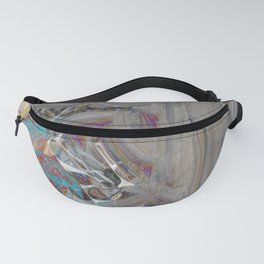 Abstract material oil paint surface texture digital illustration concept background Fanny Pack