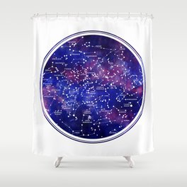 Star Map III Shower Curtain