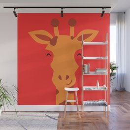 Smiling Giraffe by cammie Wall Mural