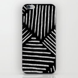 Lines and Patterns in Black and White Brush iPhone Skin