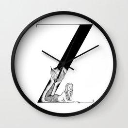 Mermaid Alphabet Series - Z Wall Clock