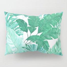 Tropical Leaf Green Pillow Sham