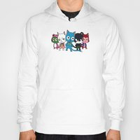 fairy tail Hoodies featuring Fairy Tail Cats by ZeroOmega