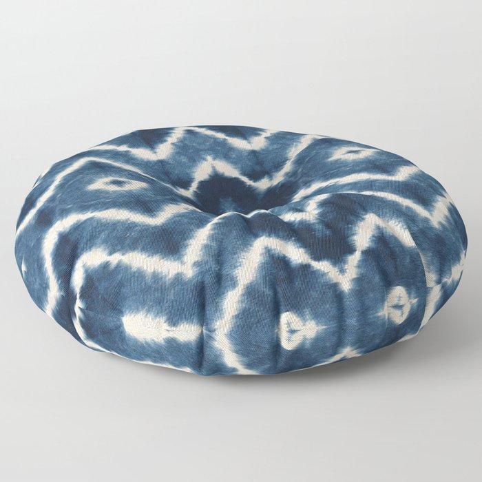 Shibori, tie dye, chevron print Floor Pillow