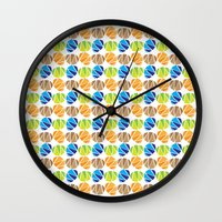 safari Wall Clocks featuring Safari by Apple Kaur