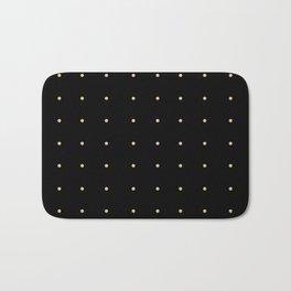 Black & Cream Polka Dots Bath Mat