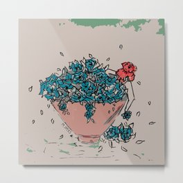 Flower soup Metal Print