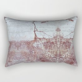 Red and White Concrete Wall Rectangular Pillow