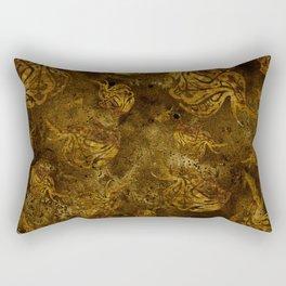 Mosaic of Elephants V tones Earth Rectangular Pillow
