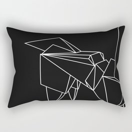 Origami Unicorn Rectangular Pillow