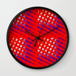 Jiggly Stripes Wall Clock