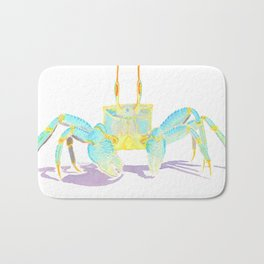 Turquoise Crab Bath Mat