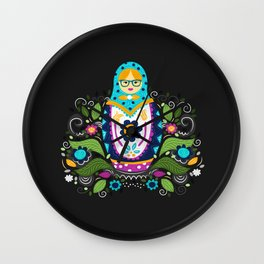 Modern Matryoshka Wall Clock