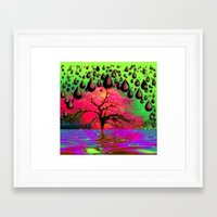 """psychedelic Framed Art Prints featuring """"Psychedelic"""" by Moon Willow"""