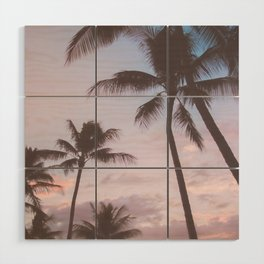Pastel Palm Trees Wood Wall Art