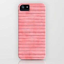 Coral wood Texture iPhone Case