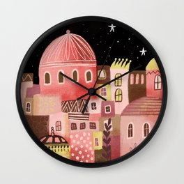 Pink Palaces Wall Clock
