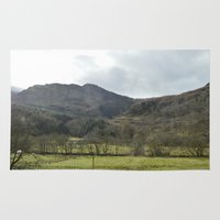 scotland Area & Throw Rugs featuring Scotland Countryside by Ashley Callan