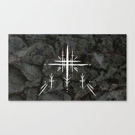 Rune Cross Canvas Print