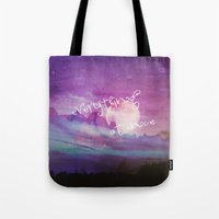 dreamer Tote Bags featuring DREAMER by Monika Strigel®