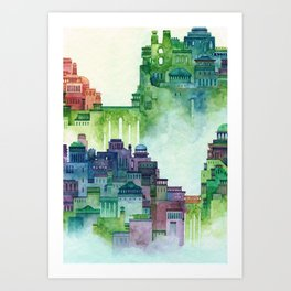 bridge city Art Print