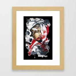 cosmonaut portrait by carographic Framed Art Print