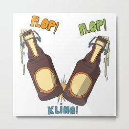 After work beer Metal Print