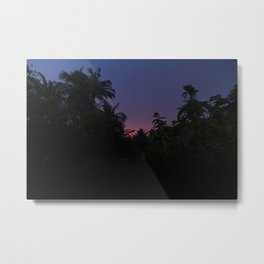 Sunset o the Maldives Metal Print