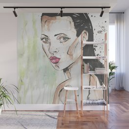 Naked woman in the green jungle Wall Mural