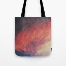 devilish skies Tote Bag