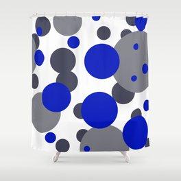 Bubbles blue grey- white design Shower Curtain