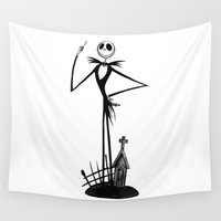 jack skellington Wall Tapestries featuring The Nightmare Before Christmas - Jack Skellington by Bastien13