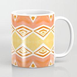 Geo Triangle Orange 2 Coffee Mug