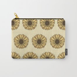 Retro Pop Sunflowers x Pastel Yellow Carry-All Pouch