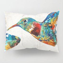 Colorful Hummingbird Art by Sharon Cummings Pillow Sham