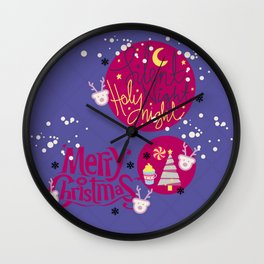 #Christmas3 Wall Clock